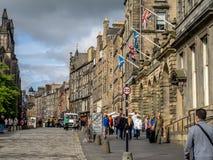 Королевская миля, Эдинбург Шотландия Стоковые Фотографии RF