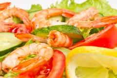 королевские овощи шримсов салата Стоковое Фото