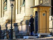 Королевские предохранители в шведском: Högvakten, основной предохранитель на дворце Стокгольма стоковые изображения rf