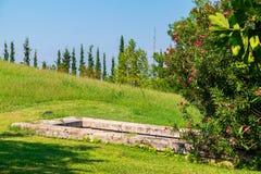 королевские усыпальницы Vergina, Греция стоковое изображение