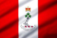 Королевский военный коллеж иллюстрации флага Канады реалистической иллюстрация штока
