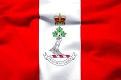 Королевский военный коллеж иллюстрации флага Канады реалистической иллюстрация вектора