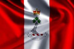 Королевский военный коллеж иллюстрации флага Канады реалистической бесплатная иллюстрация