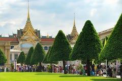 Королевский грандиозный дворец в Бангкоке, Таиланде Стоковое Фото