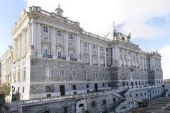Королевский дворец в Мадриде Стоковая Фотография