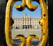 Королевский дворец в Мадрид, Испании стоковое фото rf