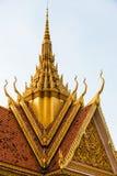 Королевский дворец в Пномпень в Камбодже Стоковое Фото