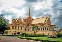Королевский дворец в Пномпень столица Камбоджи стоковое фото rf