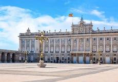 Королевский дворец Мадрида, Испании стоковые изображения rf