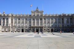 Королевский дворец Мадрида стоковое изображение rf