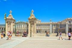 Королевский дворец Мадрида Palacio реального de Мадрида должностное лицо Стоковое Фото