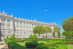Королевский дворец Мадрида Palacio реального de Мадрида должностное лицо Стоковое Изображение