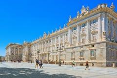Королевский дворец Мадрида Palacio реального de Мадрида должностное лицо Стоковые Фото