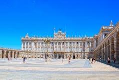 Королевский дворец Мадрида Palacio реального de Мадрида должностное лицо Стоковые Фотографии RF