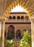 Королевский дворец, реальный Alcazar, Севил Стоковое фото RF