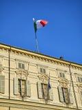 Королевский дворец Турина Пьедмонт, Италия стоковое изображение rf