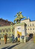 Королевский дворец Турина Пьедмонт, Италия стоковые фото