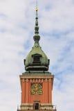 Королевский замок. Башня часов. Варшава. Польша стоковое фото