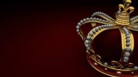 Королевский король предпосылки кроны золота иллюстрация вектора