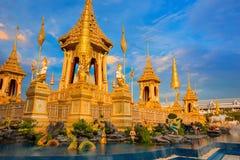 Королевский крематорий короля Bhumibol Adulyadej Его Величество в Бангкоке, Таиланде стоковое фото rf