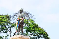 Королевский памятник короля Rama 1, Ayutthaya, Таиланд Стоковое фото RF