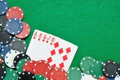 Королевский приток показанный с обломоками покера Стоковая Фотография RF