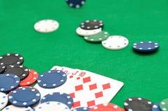 Королевский приток показанный с обломоками покера Стоковое Изображение