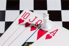 Королевский приток с королем шахмат Стоковое Фото