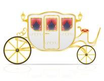 Королевский экипаж для транспорта людей vector иллюстрация Стоковое фото RF