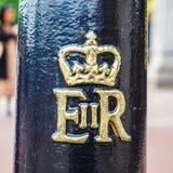 Королевский cypher ферзя в Лондоне, hdr Стоковое Изображение
