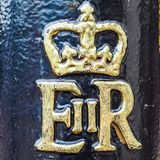 Королевский cypher ферзя в Лондоне (hdr) Стоковое Изображение RF