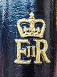Королевский cypher ферзя в Лондоне (hdr) Стоковая Фотография