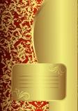 королевское карточки золотистое стоковые фотографии rf