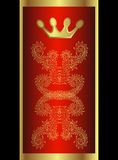 королевское кроны золотистое Стоковое Изображение RF