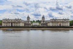Королевское мореходное училище в Гринвиче, Лондоне Стоковая Фотография RF