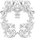 королевское рамки богато украшенный Стоковое фото RF