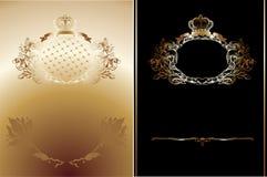 королевское черного золота предпосылок богато украшенный иллюстрация вектора