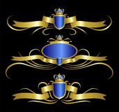 королевское элемента конструкции золотистое Стоковые Фотографии RF