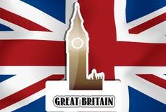 Королевство Соединенное, Великобритания, иллюстрация Стоковые Фотографии RF