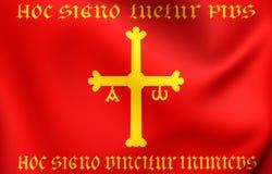 Королевство флага Астурии иллюстрация штока