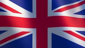 Королевств флаг иллюстрация 3d развевая флага Великобритании Стоковое Фото