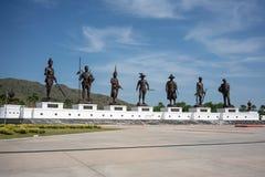 7 королей мемориала Таиланда, парка Rajabhakti, Prachuap Khiri Kh Стоковые Фото