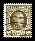Король Альберт Я - напечатайте serie Houyoux, около 1929 Стоковое Изображение RF