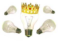 Король блестящей идеи идей стоковое изображение rf