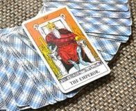 Король Босс правителя руководителя силы карточки Tarot императора Стоковая Фотография