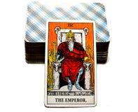 Король Босс правителя руководителя силы карточки Tarot императора иллюстрация вектора