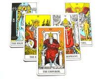 Король Босс правителя руководителя силы карточки Tarot императора иллюстрация штока