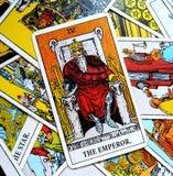 Король Босс правителя руководителя силы карточки Tarot императора Стоковое Фото