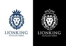 Король Вектор Логотип Конструировать льва Стоковые Изображения RF
