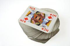 Король диамантов вверху играть пакет перфокарт Стоковые Изображения